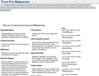 tools.webmasters.sk screenshot