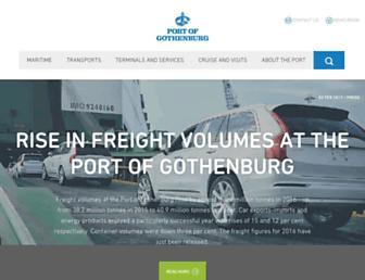 portofgothenburg.com screenshot