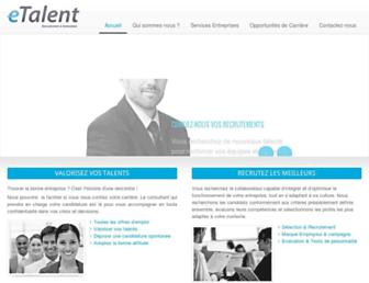 etalent-dz.com screenshot