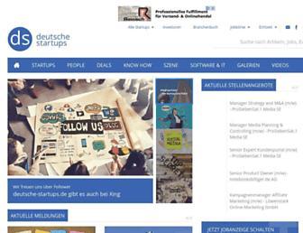 Main page screenshot of deutsche-startups.de