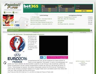 Main page screenshot of fussball-foren.net