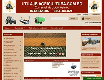 utilaje-agricultura.com.ro screenshot