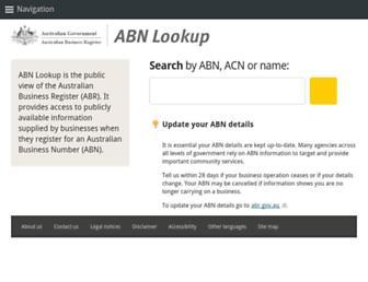 abr.business.gov.au screenshot