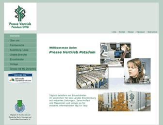 Main page screenshot of pvp.de