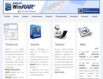 Main page screenshot of winrar.it