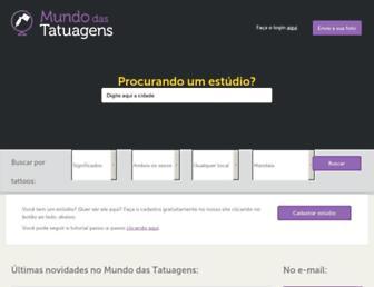 mundodastatuagens.com.br screenshot