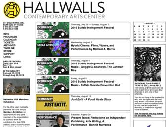 hallwalls.org screenshot