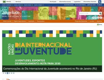 Main page screenshot of juventude.gov.br