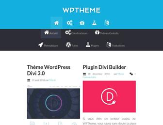 wptheme.fr screenshot