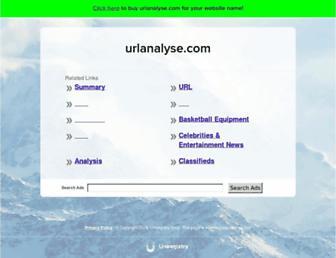 urlanalyse.com screenshot