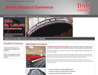 bsccolombo.edu.lk screenshot