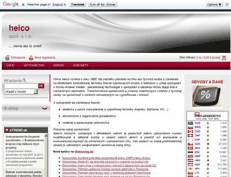 Main page screenshot of heico.sk