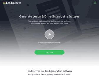 leadquizzes.com screenshot