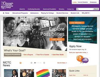 Main page screenshot of minneapolis.edu