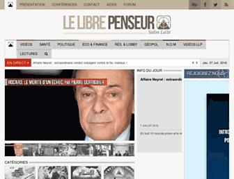 Thumbshot of Lelibrepenseur.org