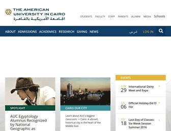 Main page screenshot of aucegypt.edu