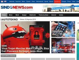 autotekno.sindonews.com screenshot