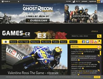 Main page screenshot of games.tiscali.cz