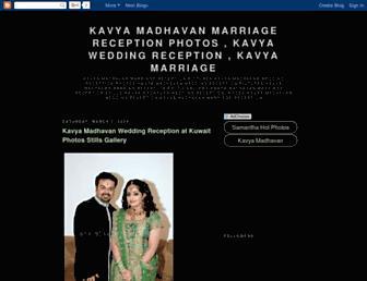 kavyamadhavanwedding.blogspot.com screenshot