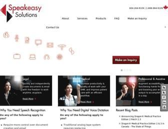 speakeasysolutions.com screenshot