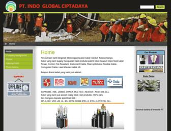 indoglobalkabel.com screenshot