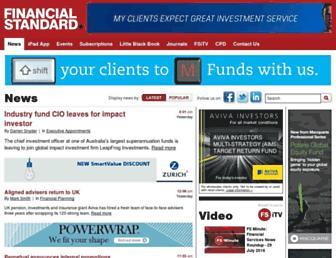 financialstandard.com.au screenshot