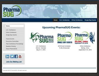 pharmasug.org screenshot