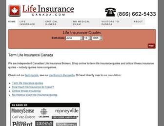 lifeinsurancecanada.com screenshot