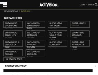 community.guitarhero.com screenshot