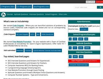 includehelp.com screenshot