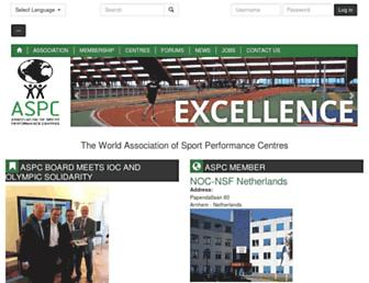 sportperformancecentres.org screenshot