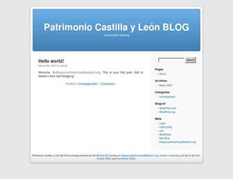 Main page screenshot of blogcyl.patrimoniocastillayleon.org