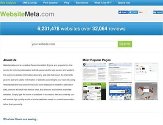websitemeta.com screenshot