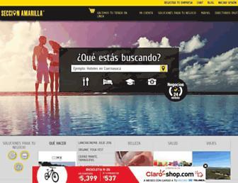 Thumbshot of Seccionamarilla.com.mx