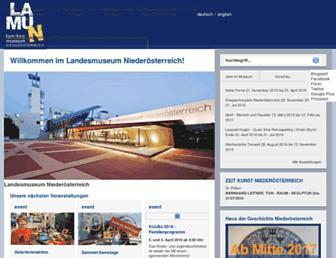 Main page screenshot of landesmuseum.net