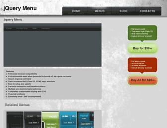 jquery-menu.com screenshot