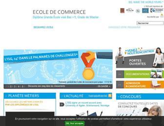 isg.fr screenshot