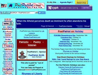 poetpatriot.com screenshot