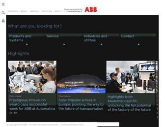 new.abb.com screenshot