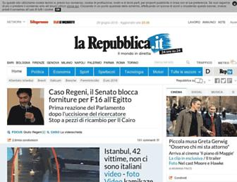 Main page screenshot of repubblica.it