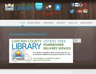 Main page screenshot of cmclibrary.org