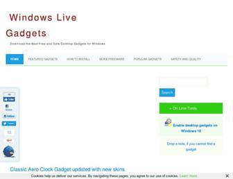 windowslivegadgets.com screenshot