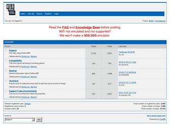 forums.desmume.org screenshot