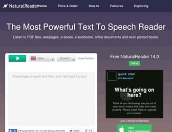 naturalreaders.com screenshot