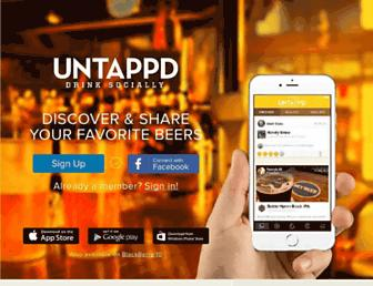 untappd.com screenshot