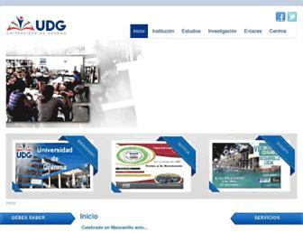 udg.co.cu screenshot