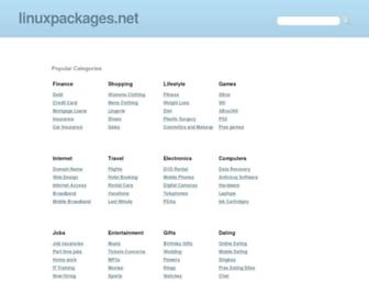Main page screenshot of linuxpackages.net