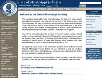 courts.ms.gov screenshot