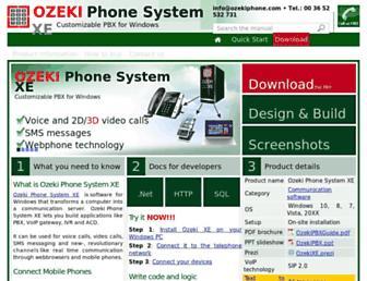 ozekiphone.com screenshot