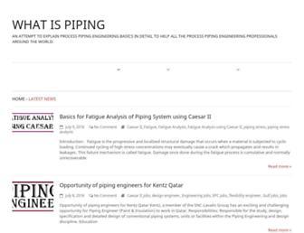 Thumbshot of Whatispiping.com